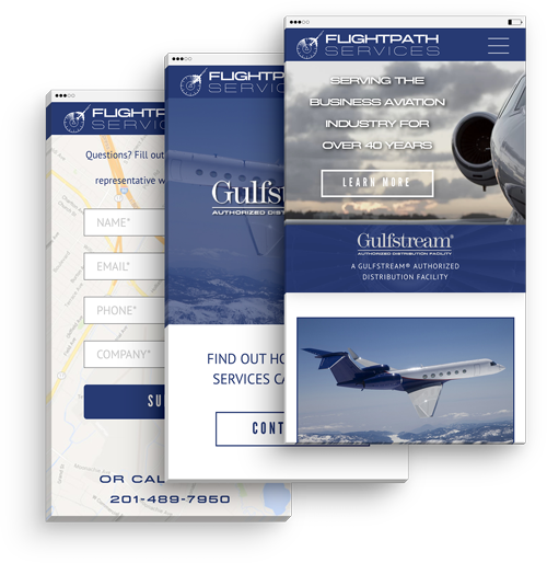 Flightpath Services Responsive Web Design
