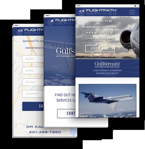 Flightpath Services Responsive Web Design