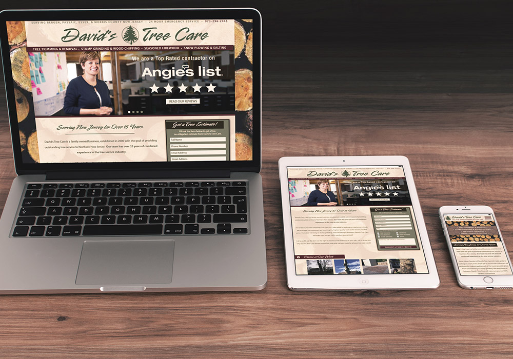 Davids Tree Care Reponsive Web Design