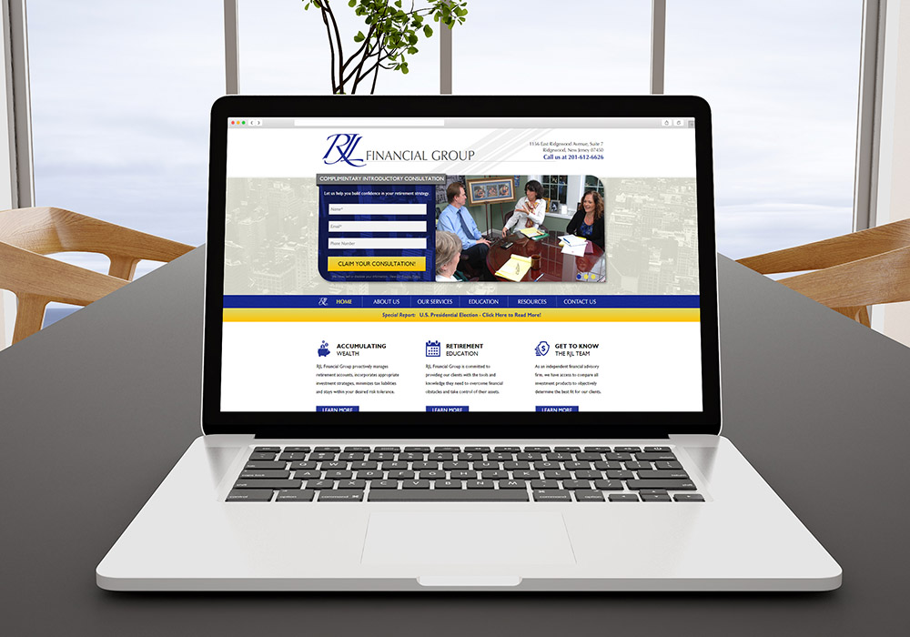 RJL Financial Responsive Website Design