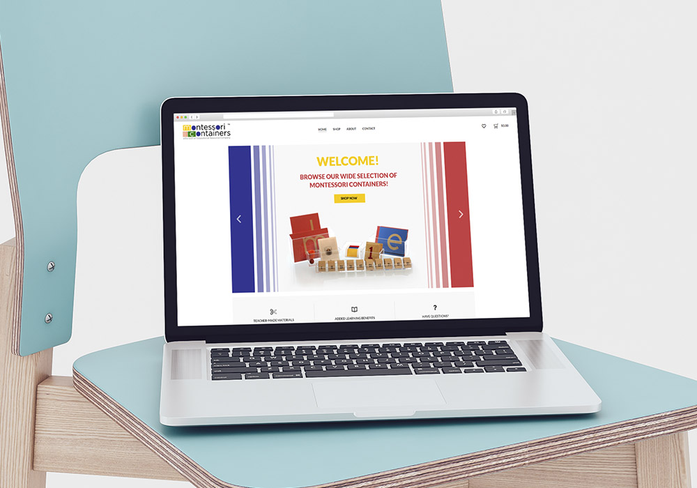 Montessori Containers Responsive Website Design