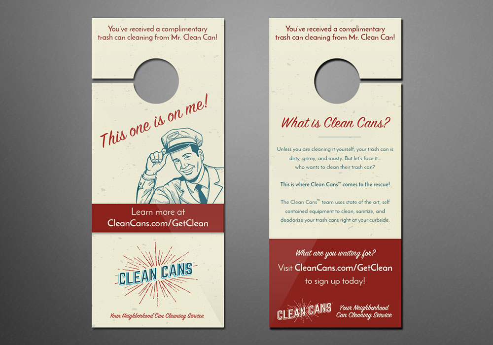 Hang Tag Design - Clean Cans